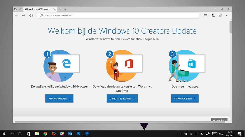 Welkom bij de Windows 10 Creators Update
